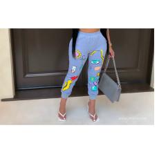 Plus Size Fashion Casual Cartoon Print Pants BLI-2159