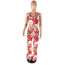 Sexy Printed Tank Top And Pants Two Piece Suits LLF-8813