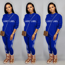Casual Embroidery Letter Long Sleeve 2 Piece Sets MOY-5269