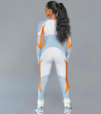 Sexy O Neck Long Sleeve Tight Jumpsuits NY-8926
