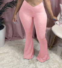 Plus Size Fashion Casual Solid Color Flared Pants LP-6244