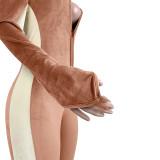 Sexy Velvet Halter Backless Jumpsuits ASL-6298