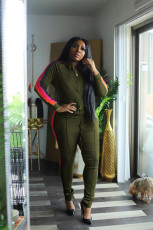 Plus Size 5XL Casual Printed Tracksuit 2 Piece Sets BMF-025