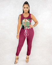 Sexy Fashion Sleeveless Print Jumpsuit MSF-8019