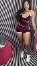 Sexy Velvet Cami Tops And Shorts 2 Piece Sets LSD-8784