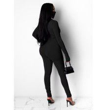 Sexy Long Sleeve Zipper Tight Jumpsuits With Mask SMR-9732