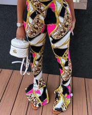 Casual Printed Skinny Flared Pants LSD-9015