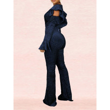 Sexy V Neck Long Sleeve One Piece Jumpsuits SMR-9742