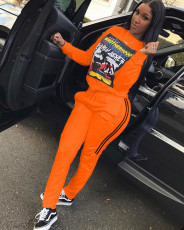 Casual Printed Tracksuit Two Piece Sets MAE-2068