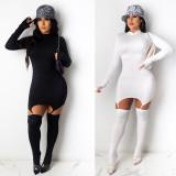 Sexy Clubwear Party Long Sleeve Mini Dress With Stocking NY-2045
