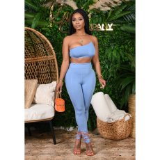Sexy Tube Tops And Split Pants Two Piece Sets CHY-1257