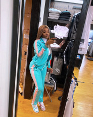 Splice Fashion Sports Casual Long Sleeve Zipper Two Piece Set KYF-3024