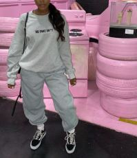Casual Letter Sweatshirt Two Piece Pants Set LSD-9028
