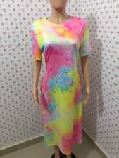 Plus Size 5XL Tie Dye Short Sleeve T Shirt Dress BDF-8015
