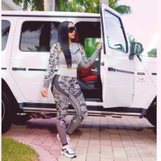 Casual Fitness Long Sleeve Two Piece Pants Set YSF-421
