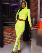 Casual Velvet Hooded Two Piece Pants Set AL-218