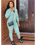 Casual Tracksuit Long Sleeve Two Piece Sets TCF-037
