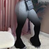 Sexy Fashion Gradient Skinny Ruffle Flare Pants NLF-8005