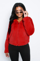 Trendy Winter Warm Hooded Zipper Fur Coat XMY-9201