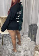 Casual Plaid Long Sleeve Sashes Shirt Dress NM-8327