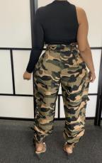 Plus Size Fashion Camouflage Casual Pants SXF-0419