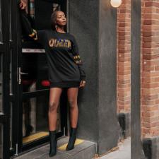 Fashion Letter Print Pullover Sweatshirts Dress SXF-2111