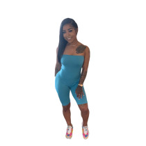 Sexy Solid Color Tube Top Playsuit SXF-0525