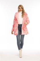 Winter Warm Tie Dye Full Sleeve Fur Coat NK-8585