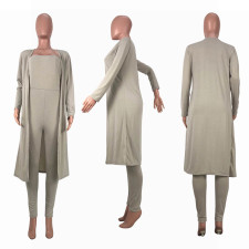 Solid Tube Jumpsuits+Long Cloak Two Piece Sets OBF-5007