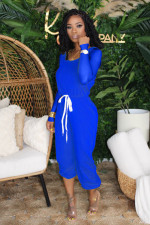 Solid Long Sleeve Casual One Piece Jumpsuits OBF-5013