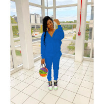 Solid Color Casual Long Sleeve Hoodie And Pants Suit MTY-6377