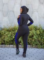 Casual Sports Hooded Zipper Two Piece Suits MN-9278