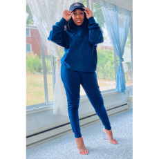 Casual Solid Hoodies Two Piece Suits AWF-5818