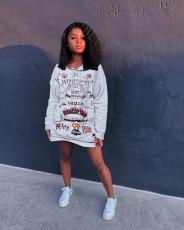 Fashion Printed Hoodie Sweatshirts YJF-8361