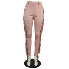 Plus Size Slim Sexy Tassel Casual Pants QYF-5023