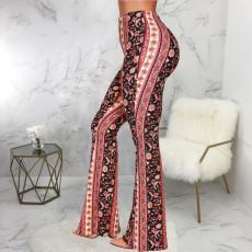 Trendy Printed Boot Cut Pants SMR-9827