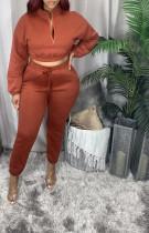 Casual Plush Sweatshirt Pants Piece Suits YLF-8060