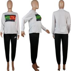 Printed Fashion Long Sleeve Sweatshirts OBF-5034