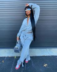 Casual Loose Sports Long Sleeve Two Piece Set TMF-5019