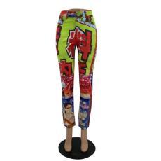 Trend Fashion Print Straight Pants TMF-5001