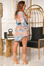 Casual Tie Dye Long Sleeve Mini Dress NK-8591