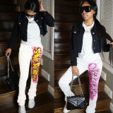 Casual Printed Pocket Sweatpants YIM-157