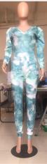 Fashion Casual Printed Slim Fit Jumpsuit YUHF-8047
