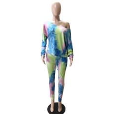 Tie-dye Long Sleeve Pants Two Piece Set WTF-9002