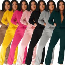 Plus Size Fashion Casual Zipper Jumpsuit OMY-8077