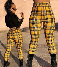 Casual Fashion Plaid Pants WTF-9035