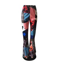 Color Block Fashion Casual Flared Pants WTF-9054