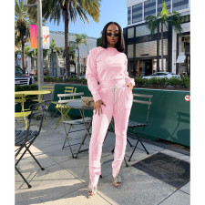 Casual Solid Long Sleeve Two Piece Pants Set BLI-2214