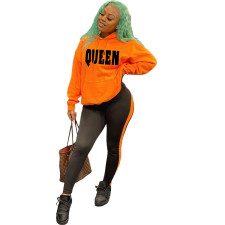QUEEN Letter Fashion Casual Suit NYF-8033