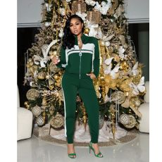 Casual Patchwork Tracksuit Two Piece Sets SFY-223